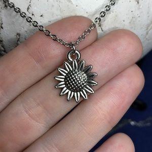 Sunflower Necklace Tibetan Silver Handmade 4for$20